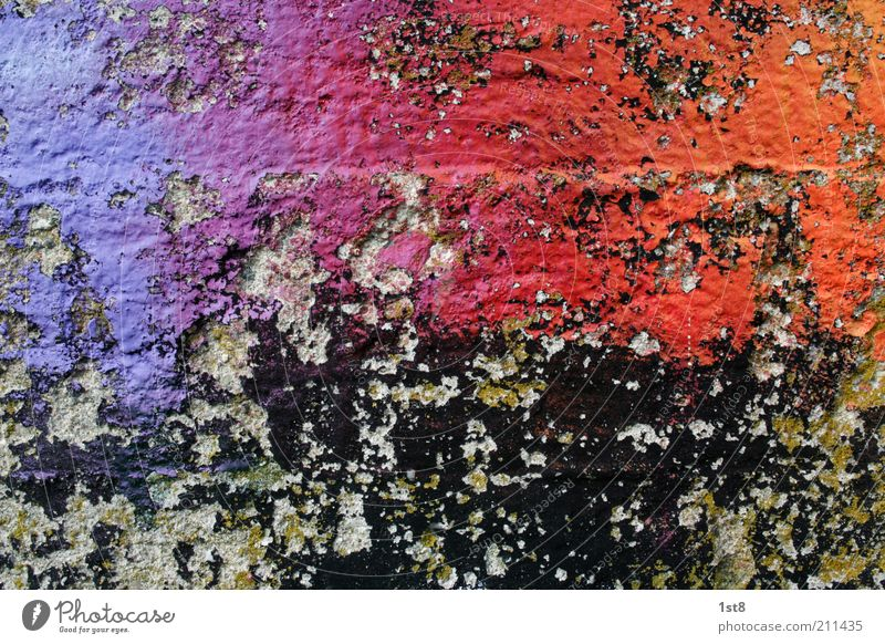 Old Wall (building) Dye Wall (barrier) Building Graffiti Art Glittering Background picture Facade Crazy Esthetic Broken Multicoloured Abstract Surface