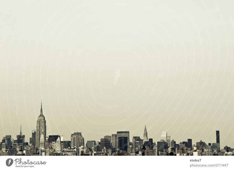 City Large High-rise Modern USA Skyline Americas Narrow New York City Tourist Attraction Empire State building