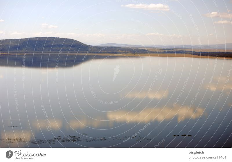 Nature Sky Calm Clouds Far-off places Lake Landscape Africa Hill Lakeside Kenya Surface of water