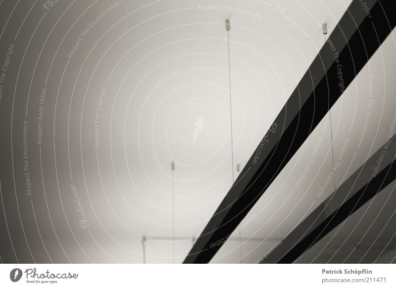 light paths Illuminant Concrete Metal Esthetic Sharp-edged Firm Elegant Energy Modern Black & white photo Subdued colour Interior shot Detail Experimental