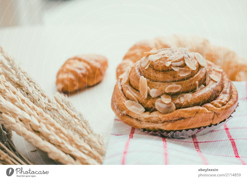 fresh bread and baked goods on wooden White Lifestyle Natural Wood Food Brown Fresh Vantage point Table Kitchen Coffee Breakfast Tradition Bread Baked goods Dinner