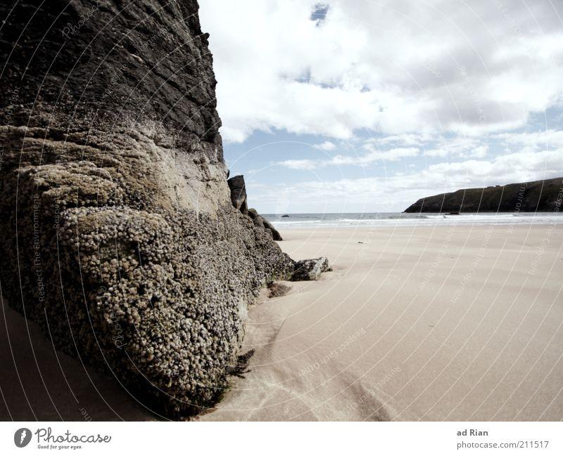 Nature Sky Ocean Beach Loneliness Stone Sand Coast Wet Horizon Rock Protection Natural Bay Wanderlust Scotland