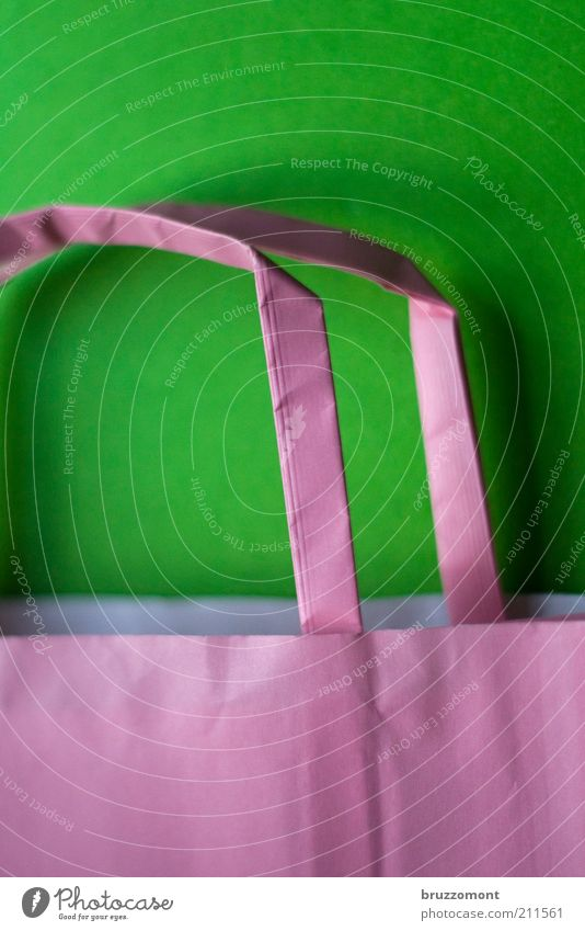 Green Red Style Pink Paper Simple Trade Paper bag Carry handle