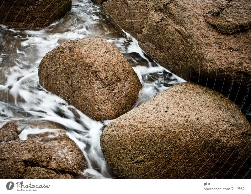 Nature Water Stone Brown Power Environment Wet Round Soft Elements Flow Foam Structures and shapes Unwavering Granite