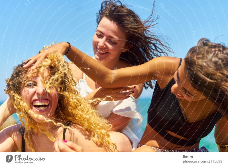 Human being Vacation & Travel Youth (Young adults) Young woman Summer Joy 18 - 30 years Adults Life Healthy Emotions Feminine Laughter Happy Tourism Together