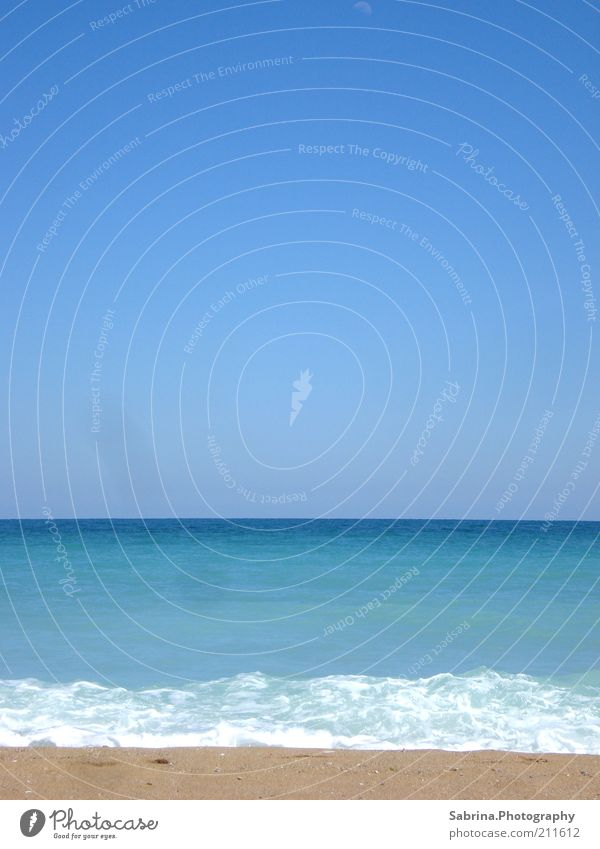 Blue, Blue, Black Sea Vacation & Travel Summer Summer vacation Beach Ocean Waves Nature Landscape Sand Water Sky Cloudless sky Sunlight Beautiful weather Warmth