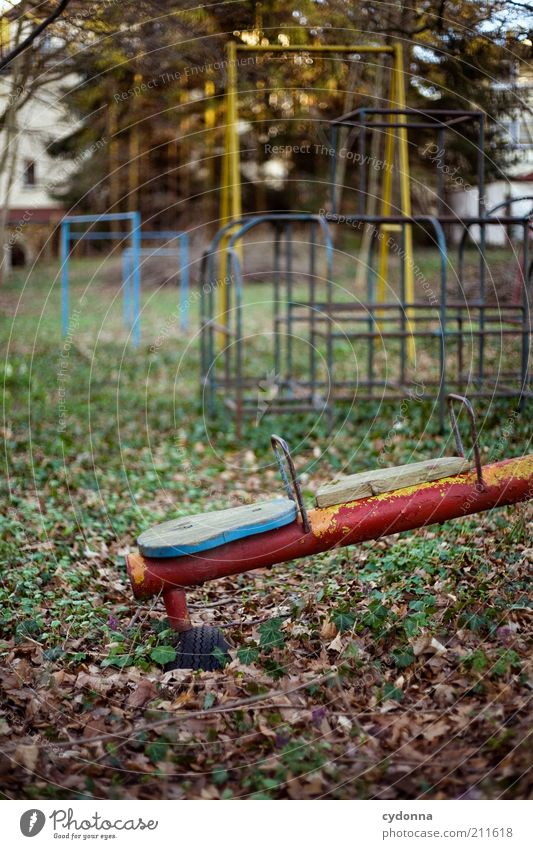 Nobody comes Playing Kindergarten Environment Nature Autumn Plant Loneliness Apocalyptic sentiment Experience Life Stagnating Dream Sadness Decline Past
