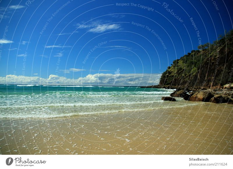 Beach Vacation & Travel Ocean Clouds Far-off places Freedom Stone Coast Waves Trip Rock Island Uniqueness Fantastic Summer vacation Blue sky