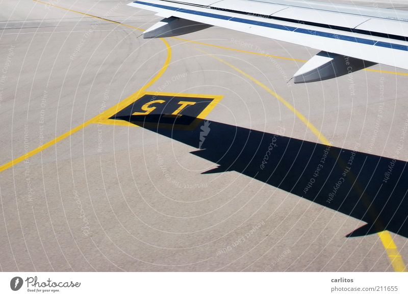Vacation & Travel Yellow Freedom Gray Line Airplane Signs and labeling Aviation Tourism Wing Airport 5 I Mobility Beautiful weather Arch