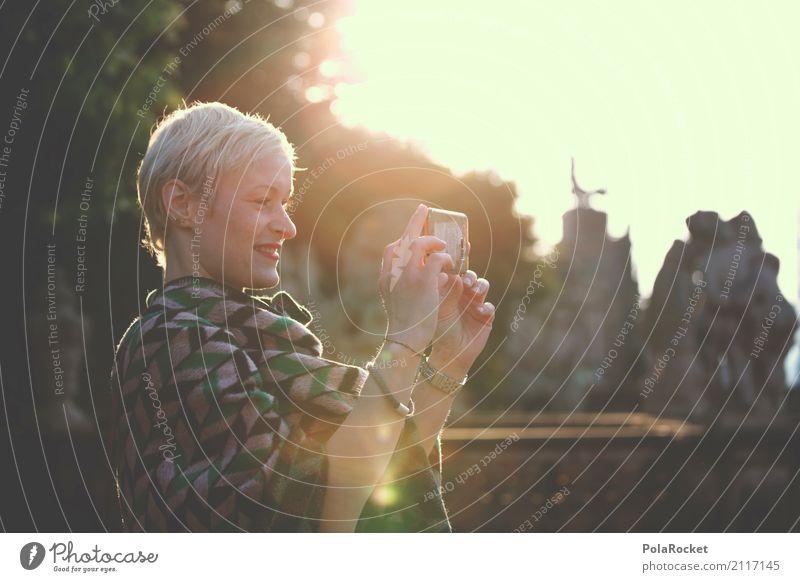 #A# Tourist Art Esthetic Tourism Woman Cellphone Cellphone camera Selfie Dresden Tourist Attraction City trip Cape Fashion Model Manikin Take a photo