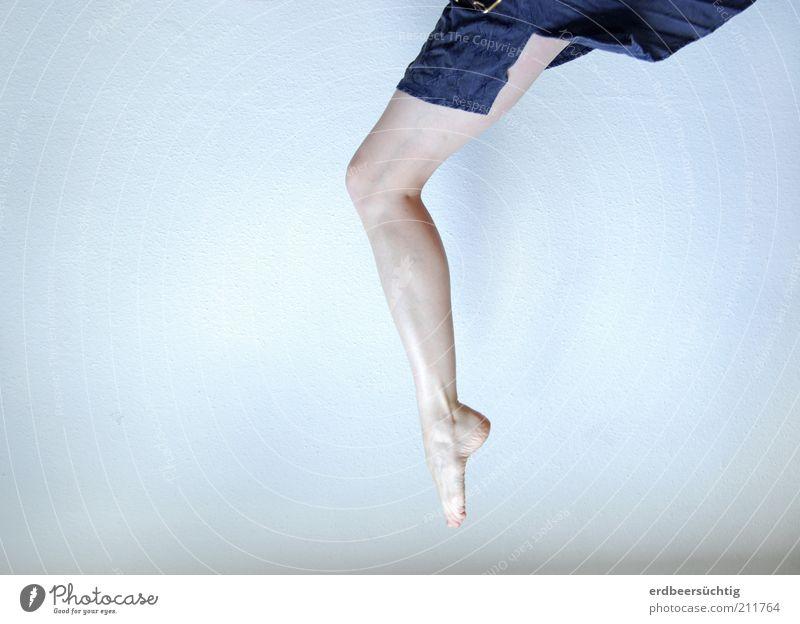Blue Cold Feminine Jump Freedom Feet Legs Bright Dance Skin Elegant Flying Esthetic Violet