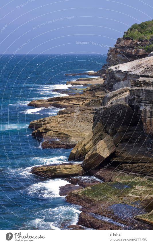 Nature Water Ocean Blue Beach Loneliness Far-off places Movement Landscape Air Coast Waves Wet Horizon Rock Authentic