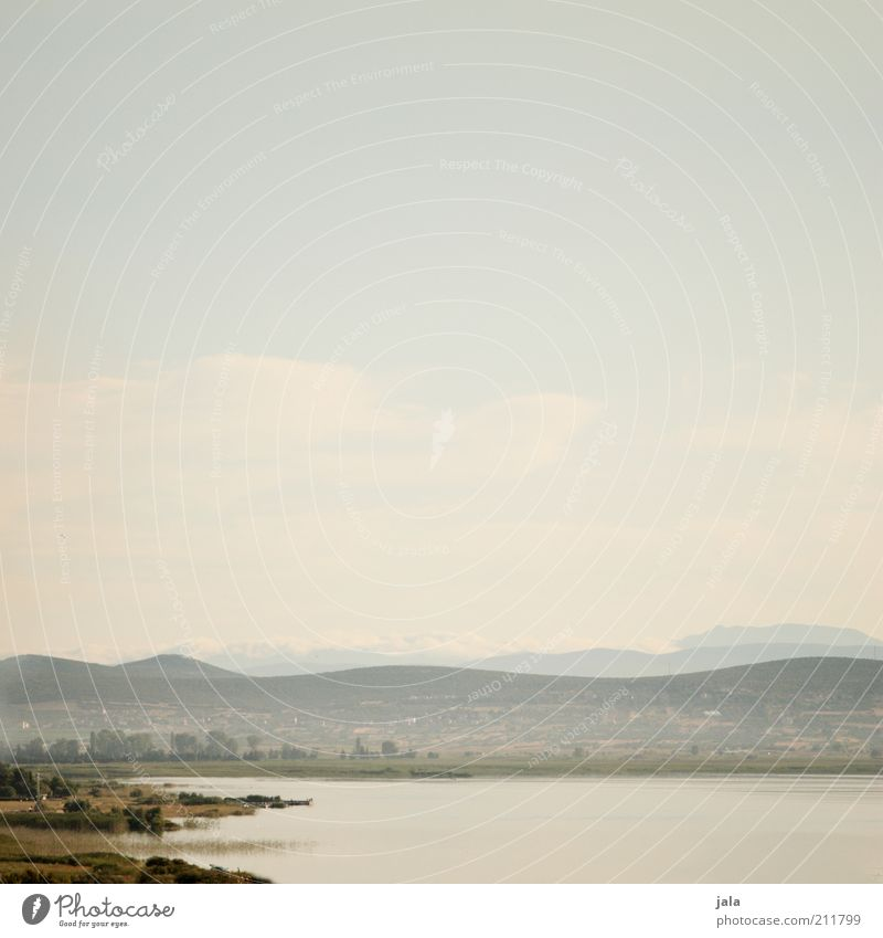 croatia - view into the country Nature Landscape Sky Summer Plant Hill Mountain Lake Croatia Infinity Colour photo Deserted Copy Space top Copy Space middle Day