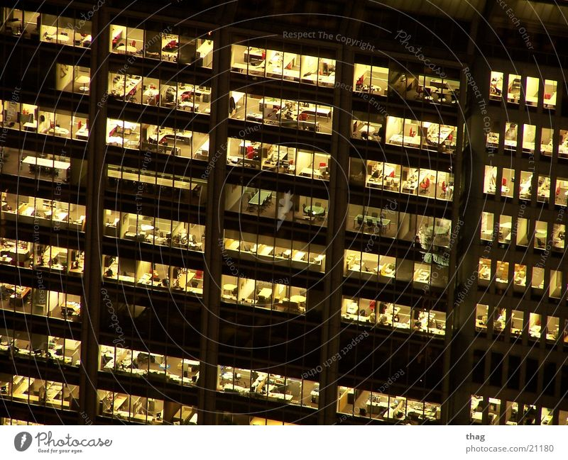 House (Residential Structure) Window Business Work and employment High-rise Closing time Office window
