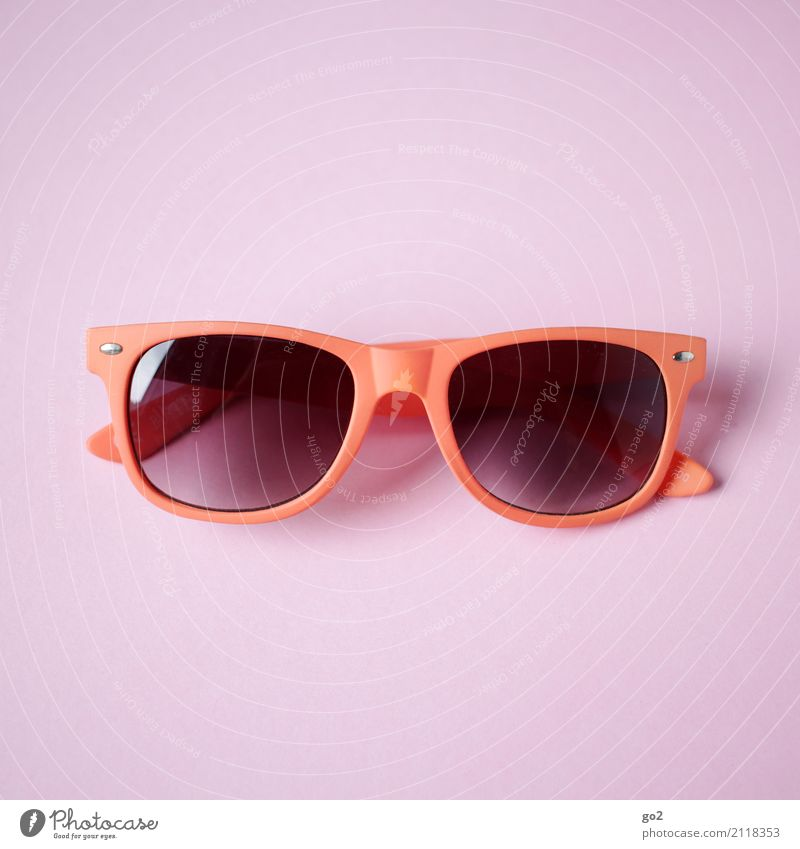 sunglasses Vacation & Travel Summer Summer vacation Accessory Sunglasses Esthetic Cool (slang) Orange Pink Red Leisure and hobbies Colour photo Interior shot