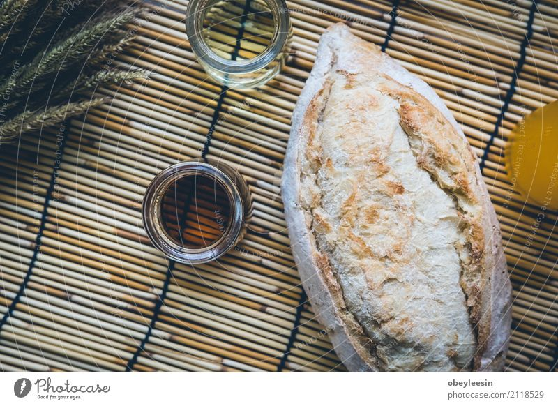 fresh bread and baked goods on wooden Natural Wood Bright Fruit Fresh Vantage point Table Beverage Coffee Delicious Breakfast Bread Plate Meat Meal Height