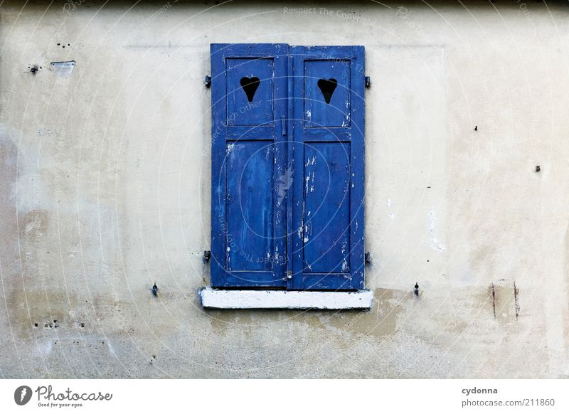 Calm Wall (building) Style Window Wall (barrier) Facade Closed Protection Idea Stagnating Shutter Heart-shaped