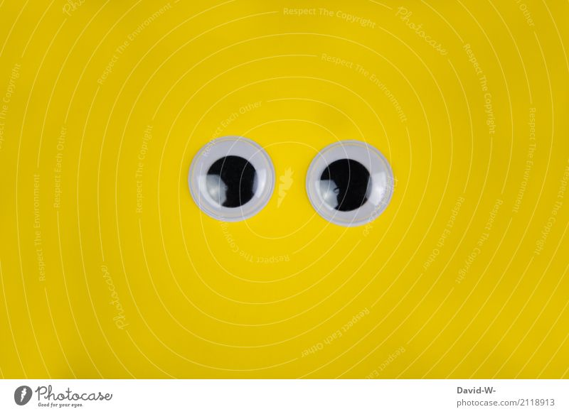 Big eyes Shopping Life Senses Human being Eyes 1 Art Observe Communicate Humanity Attentive Watchfulness Fear Perturbed Timidity Yellow Looking Open Large