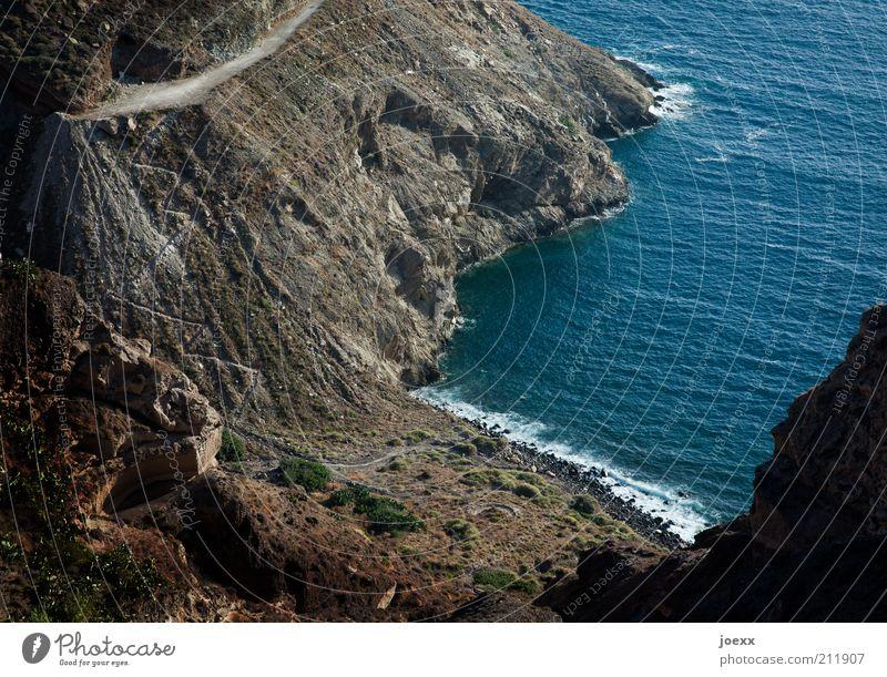Nature Water Ocean Blue Beach Vacation & Travel Black Mountain Stone Lanes & trails Brown Coast Waves Road traffic Rock Gloomy