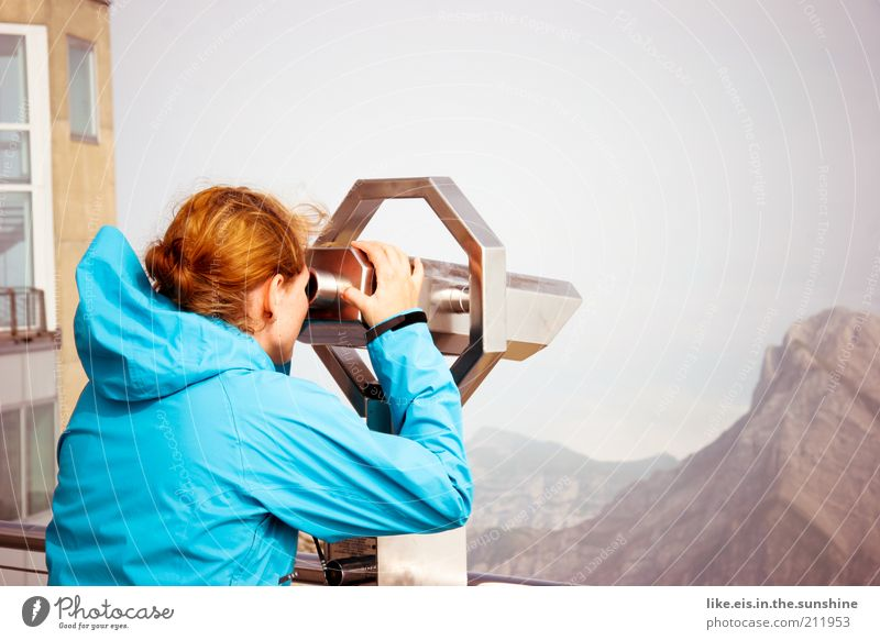I see what you don't see! Vacation & Travel Tourism Trip Far-off places Sightseeing Summer Mountain Hiking Young woman Youth (Young adults) Woman Adults 1