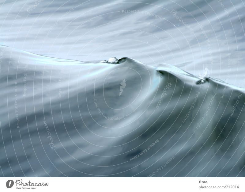 Lifelines #17 Beautiful Ocean Waves Dance Art Wet Blue Gray Transience ruffle Smooth Damp rear wave wave mountains Incline Wave trough water displacement