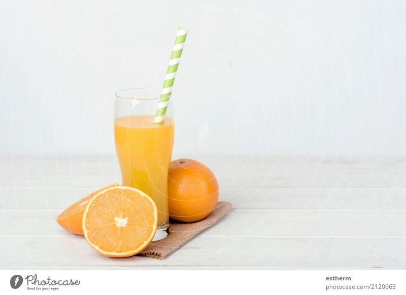 Orange juice Food Fruit Nutrition Breakfast Lunch Vegetarian diet Diet Drinking Lemonade Juice Mug Straw Lifestyle Health care Healthy Eating Overweight Kitchen