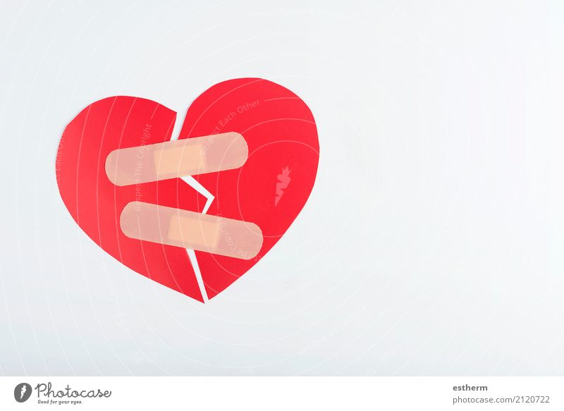 red broken heart Health care Medical treatment Family & Relations Couple Heart Illness Anger Emotions Together Loyalty Romance Grief Disappointment Stress