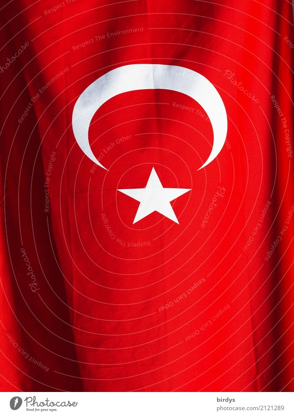 Turkey Media Sign Flag Illuminate Esthetic Authentic Original Gray Red White Might Hospitality Solidarity Responsibility Fairness Hope Fear Fear of the future