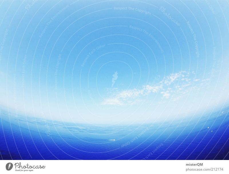 Blue Planet. Harmonious Far-off places Blue sky Sky Ocean Sea water Strait Sea level Freedom Vacation & Travel Vacation mood Vacation photo Azure blue Weather