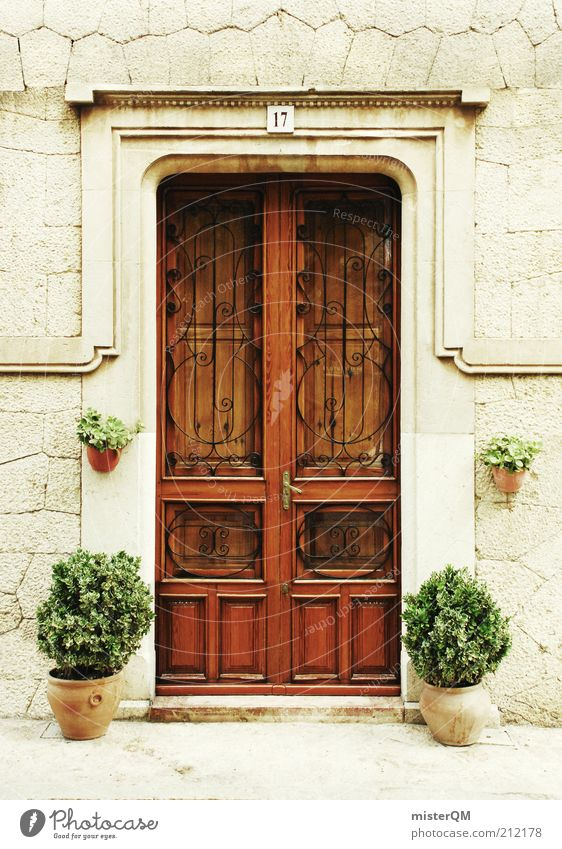 Beautiful Calm Wood Architecture Door Closed Esthetic Gate Entrance Historic Spain Museum Ancient Majorca Digits and numbers