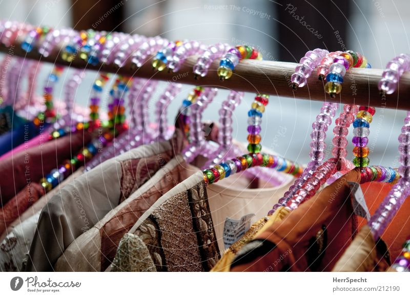 girl's hanger Fashion Clothing Hanger False pearls Multicoloured Hallstand Colour photo Exterior shot Close-up Copy Space top Shallow depth of field Trade Sell