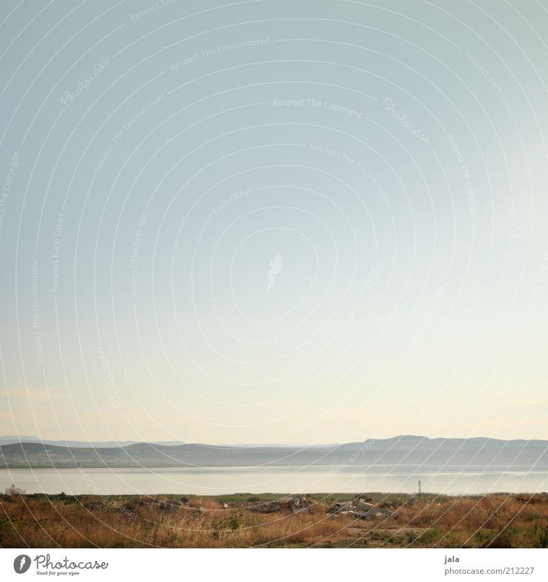 Nature Beautiful Sky Plant Mountain Lake Landscape Gloomy Hill Blue sky Drought Croatia
