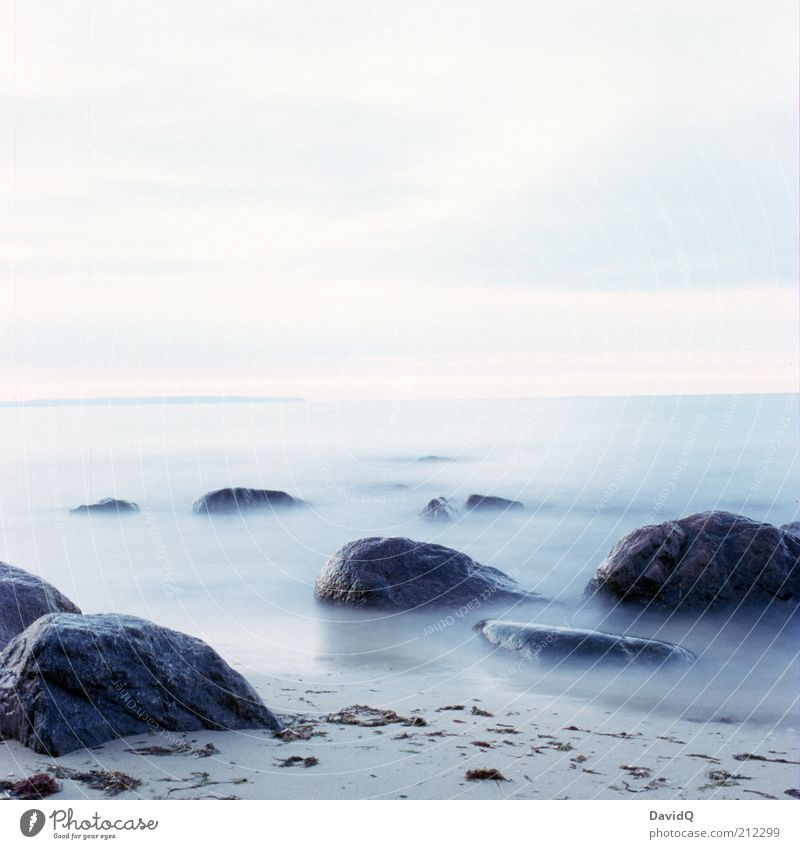 Nature Sky Beach Calm Far-off places Stone Coast Waves Environment Horizon Rock Serene Baltic Sea Surrealism Ocean Rügen