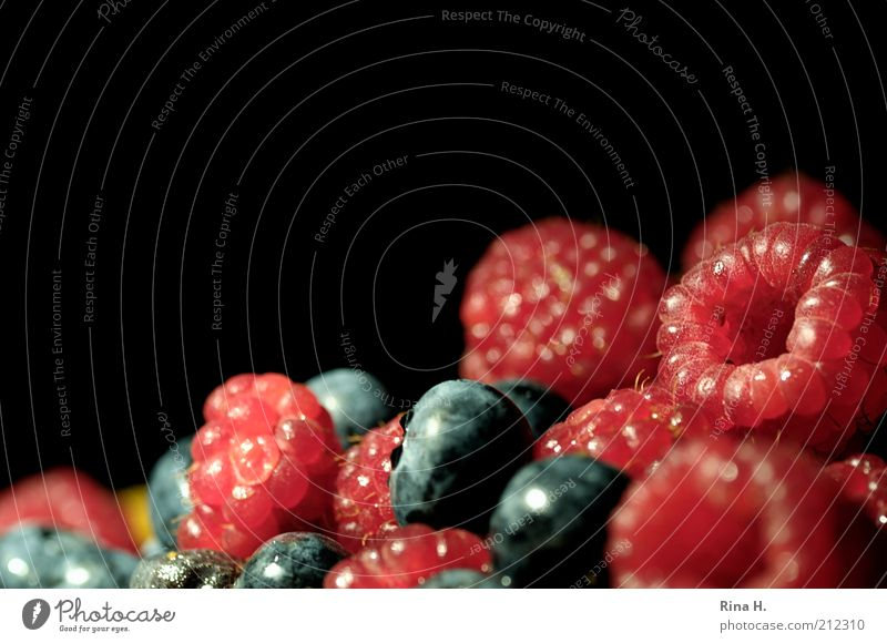 ravenous hunger Food Fruit Raspberry Blueberry Nutrition Organic produce Vegetarian diet Fresh Delicious Sweet Red Black Vitamin Berries Colour photo Deserted
