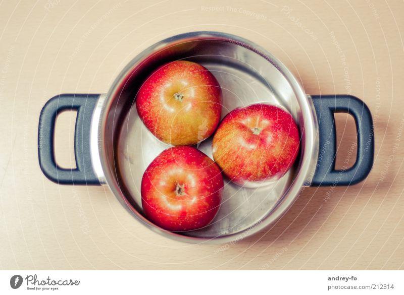 Apples to cook. Healthy Metal Round Brown Red Silver Pot Healthy Eating Cooking Mature Delicious Vegetarian diet Vegan diet Vitamin-rich Fruity Door handle