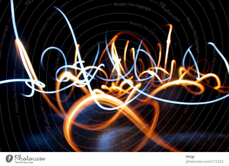 Beautiful Blue Black Yellow Movement Brown Bright Design Crazy Esthetic Transience Uniqueness Stripe Fantastic Long