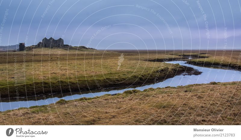 Sky Nature Vacation & Travel Landscape Meadow Building Freedom Field River Manmade structures Castle Iceland Ruin