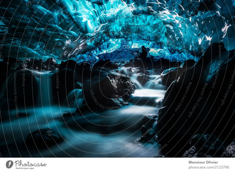 Human being Nature Vacation & Travel Blue Landscape Travel photography Tourism Hiking Ice Action Adventure Climate River Frost Iceland Expedition