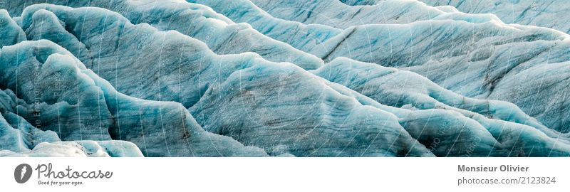 Glacier, Iceland Environment Nature Landscape Elements Water Climate Climate change Weather Vacation & Travel Blue White Close-up Sturcture Abstract