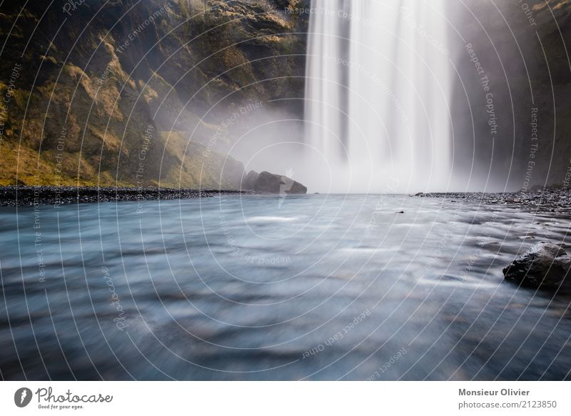Nature Vacation & Travel Water Landscape Travel photography Environment Adventure River Iceland Waterfall Force of nature Travel excitement