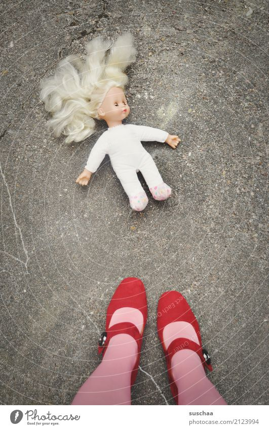 discarded .. childhood Doll Toys Figure Hair and hairstyles Limbs Child Infancy Childhood memory Throw away Arranged Defective Memory Grief Time Past Feet Legs
