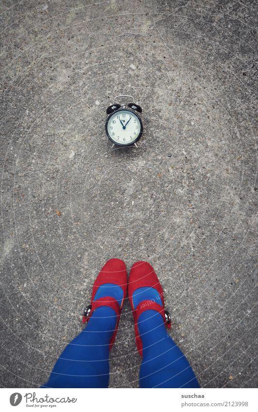 Blue Summer Red Winter Street Legs Time Feet Clock Footwear Clock face Symbols and metaphors Fatigue Stockings Loud High heels