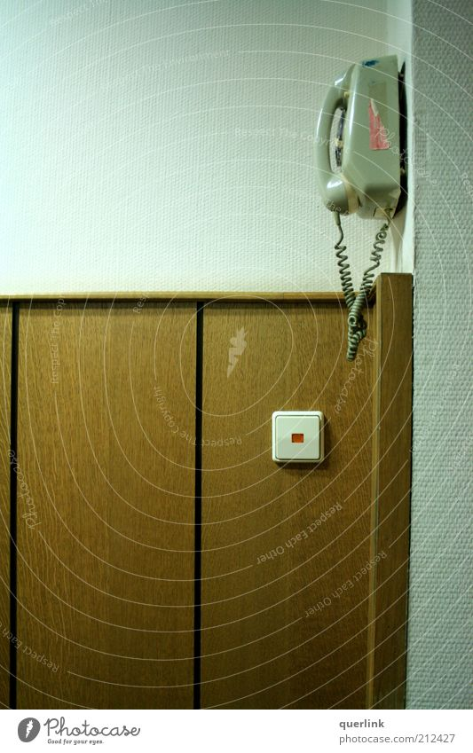 Calm Wall (building) Wood Building Brown Facade Esthetic Telephone Retro Simple Telecommunications Switch Light switch Telephone cable