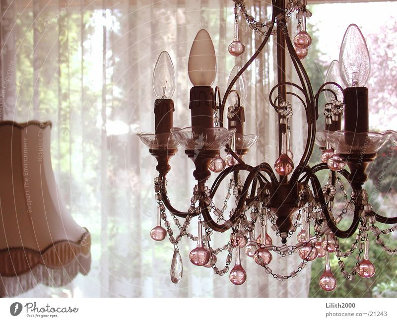 Lamp Glass Candle Living or residing Living room Pearl Drape Lampshade Chandelier Standard lamp
