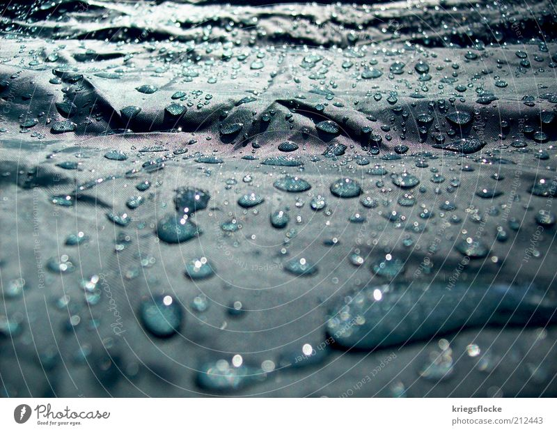 Only rain :( Environment Water Drops of water Sunlight Weather Bad weather Rain Wet Natural Clean Turquoise Covers (Construction) Tent Colour photo