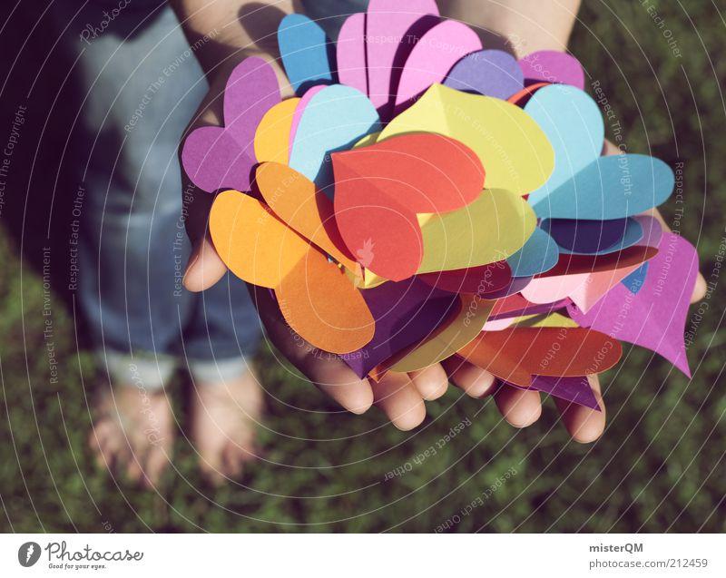 Youth (Young adults) Hand Love Playing Emotions Grass Happy Art Contentment Heart Esthetic Decoration Gift Search Symbols and metaphors To hold on