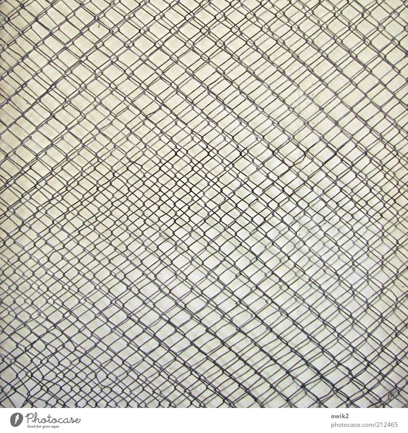 interference Metal Wire Wire netting Wire mesh Mesh grid 2 Behind one another Wiry Colour photo Exterior shot Detail Pattern Structures and shapes Deserted