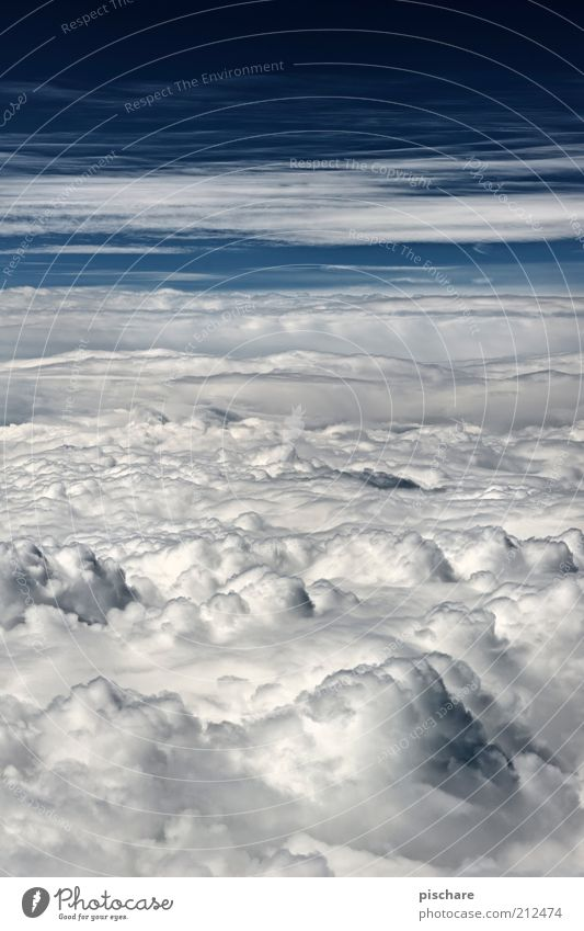 Snow free Sky Clouds Climate Weather Beautiful weather Aviation Tall Soft Blue Loneliness Uniqueness Far-off places Colour photo Exterior shot Aerial photograph