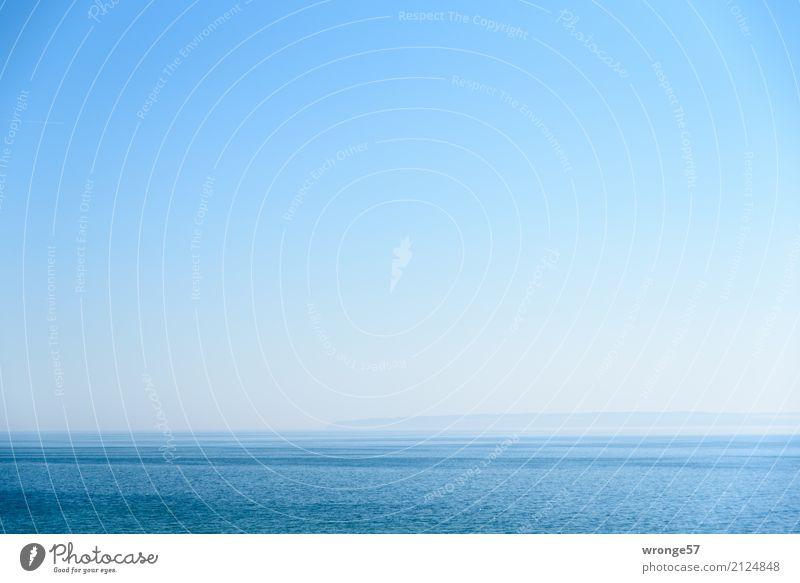 Sky Blue Summer Water Landscape Ocean Far-off places Coast Horizon Dream Island Beautiful weather Longing Baltic Sea Bay Wanderlust