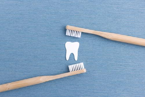 Blue White Healthy Wood Fresh Clean Cleaning Set of teeth Sustainability Dental care Cleanliness Conscientiously Toothbrush Virtuous
